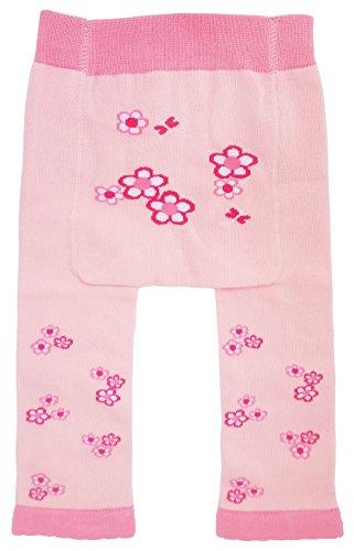 Huggalugs Baby Or Toddler Girls Pink Flowered Legging Pant 6-12 - Garden Bloom Sweater