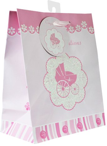 Baby Gift Bags, with glitter, 12 Piece Pack, Medium Photo #2