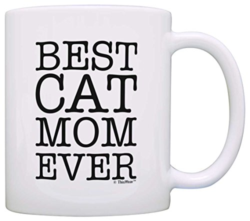 Cat Lover Gifts Best Cat Mom Ever Pet Owner Rescue Gift Coffee Mug Tea Cup White