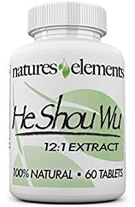 He Shou Wu for Gray Hair - Chinese Herb Stimulates Hair Growth - Most Powerful Shou Wu Available - FREE GIFT WITH 3 BOTTLE PURCHASE!