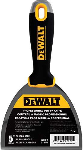 DEWALT 5-Inch Putty Knife   Carbon Steel w/Soft Grip Handle   DXTT-2-151