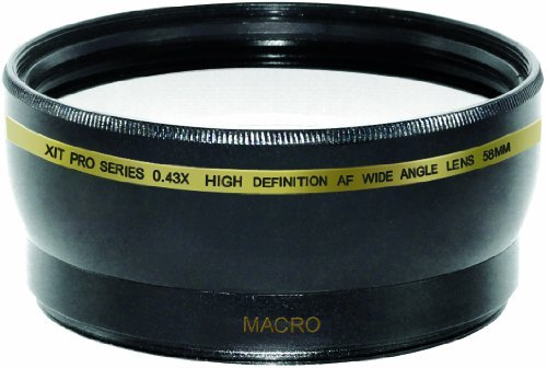 Xit XT58WAB 58mm 0.43 Wide Angle Lens