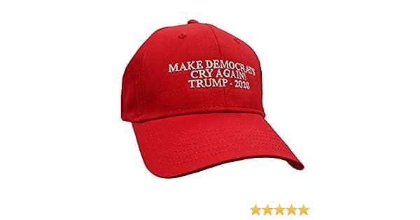 4414443f Amazon.com: Political Make Democrats Cry Again Trump 2020 Embroidered Otto  Baseball Cap-Red: Clothing