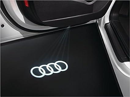 Audi originales deporte LED iluminación de entrada puerta logotipo proyector para muchos Audi