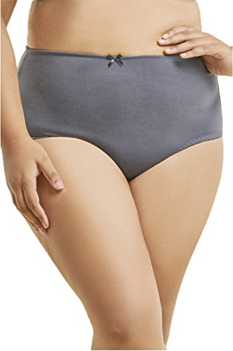 Sofra 3XL 6-Pack High Waist Plus Size Brief Panties, Cotton Underwear, Full Coverage