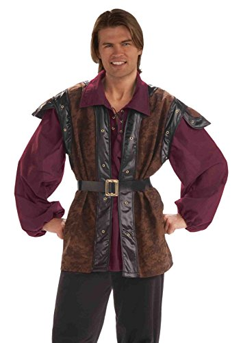 GTH Men's Mercenary Highway Man Theme Party Medieval Costume, One (Adult Medieval Mercenary Costumes)