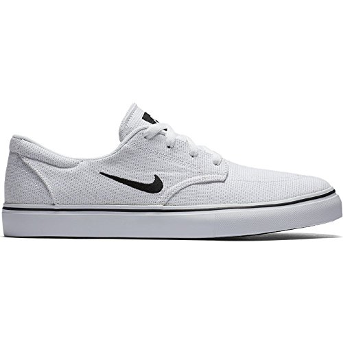 NIKE Mens SB Clutch Skate Shoe, White/Black, 8 D US