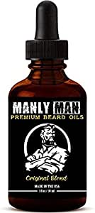 beard Oil for Men | pure all Natural Ingredients w/Sandlewood & Cedarwood Essential Oils | Soften, Grow, and Manage | Official Manly Man beard Oils