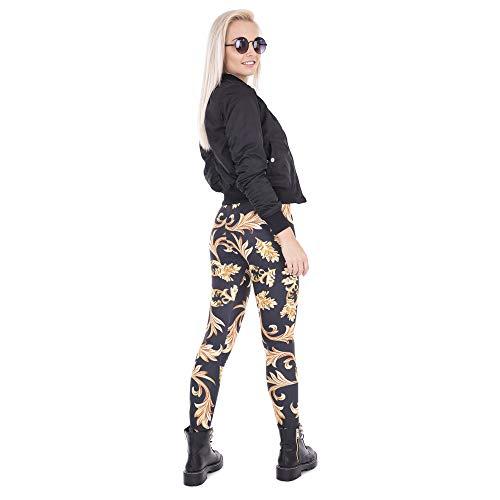 donna Pantaloni elasticità ad stampati leggings da alta Lybtrouser qg1USxAq