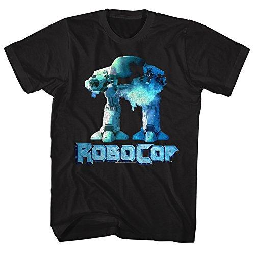 Pour Film D'action Homme Tee Robocop Noir Cyberpunk Crime 2bhip Cop Robot 1980 shirt vtawqH