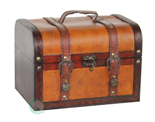 vintiquewisetm-decorative-wood-leather-treasure-box-large-trunk-only