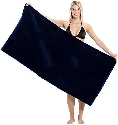 "30/""x60/"" Solid Premium Terry Velour Beach//Bath Towel 5 pc Set"