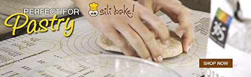 Exclusively Designed in the USA. The Original SILIBAKE Silicone Pastry Baking Mat with Measurements Finally a Baking Mat that Really Works