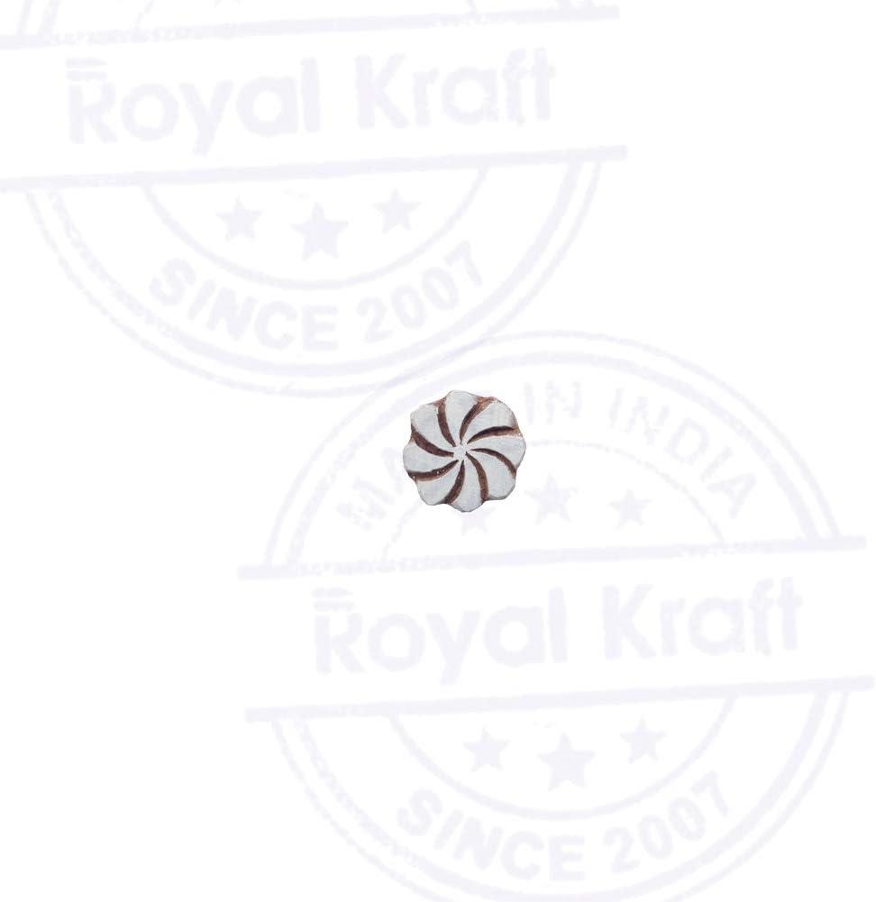 DIY Henna Fabric Textile Paper Clay Pottery Block Printing Stamp TBtag036 Royal Kraft Spiral Wooden Round Printing Block Stamp