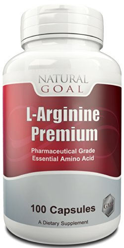 L-Arginine Premium - #1 Grade pharmaceutique acide aminé essentiel - soutien de la santé cardiovasculaire - améliorer la Circulation, optimiser la santé cardiovasculaire - 1000mg par portion - durée de vie garantie argent remis à 100 %