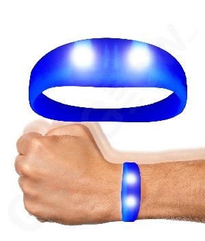 Fun Central AC934 LED Light Up Motion Activated Wristband - Blue