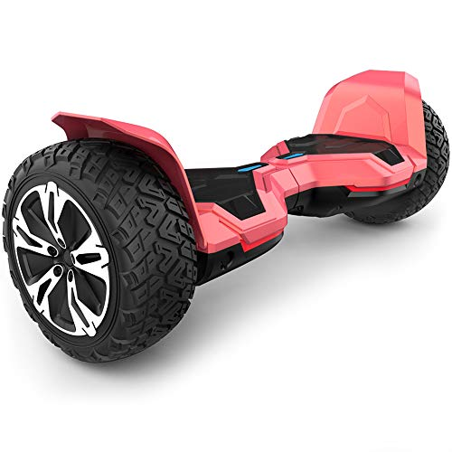 (Gyroor Warrior 8.5 inch All Terrain Off Road Hoverboard with Bluetooth Speakers and LED Lights, UL2272 Certified Self Balancing Scooter 2018(Red) )