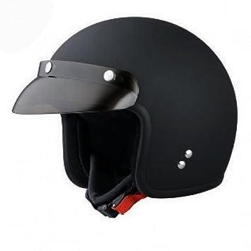 Casco Biker, homologado ECE 22.05 Jet Negro mate Custom