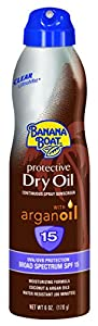 Banana Boat Sunscreen Ultra Mist Protective Dry Oil Broad Spectrum Sun Care Sunscreen Spray - SPF 15, 6 Ounce(Pack of 3)