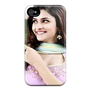 Rugged Skin Case Cover For Iphone 4/4s- Eco-friendly Packaging(prachi Desai In Policegiri)