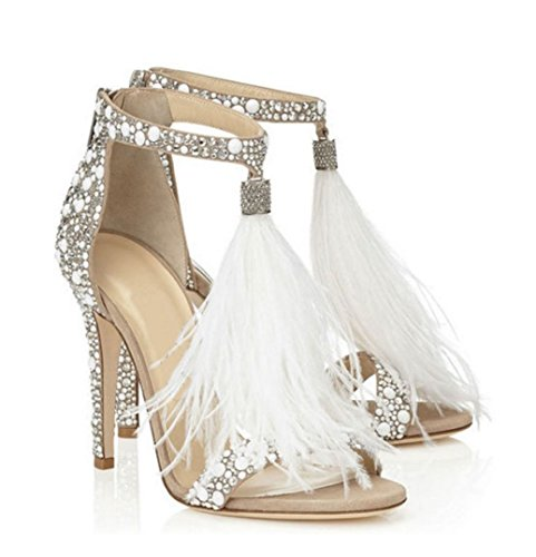 Dancing High Schuhe Jazz Schuhe Heels Sandalen Hochzeit Damen Feder WSK Hot Feder Sandalen Hochzeit Sexy wf6An5q