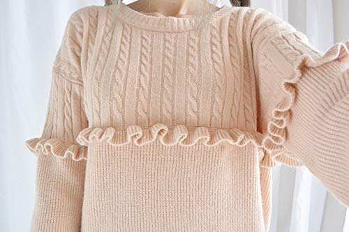 Unique Himifashion Taille Pull Rose Femme 4qAqxH7wO