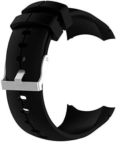 QGHXO Band for Suunto Spartan Ultra, Replacement Soft Silicone Wristband Strap with Metal Buckle for Suunto Spartan Ultra Watch