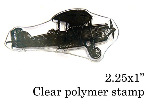 P21 Airplane Clear Mounted Polymer Rubber Stamp