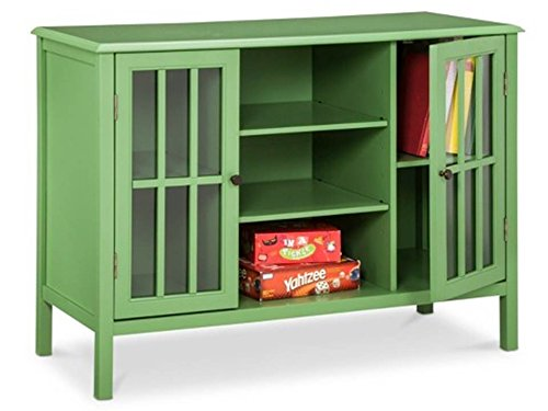 Threshold Windham 2 Door Cabinet Accent Table with Center Shelves