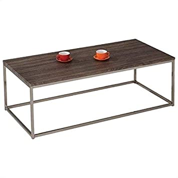 Acme Furniture 81498 Cecil Coffee Table, Walnut Brushed Nickel