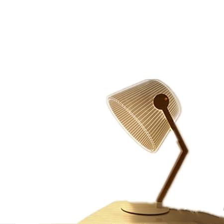 YAHUA LI Lámpara de Mesa LED de Efecto estéreo 3D con Enchufe USB ...