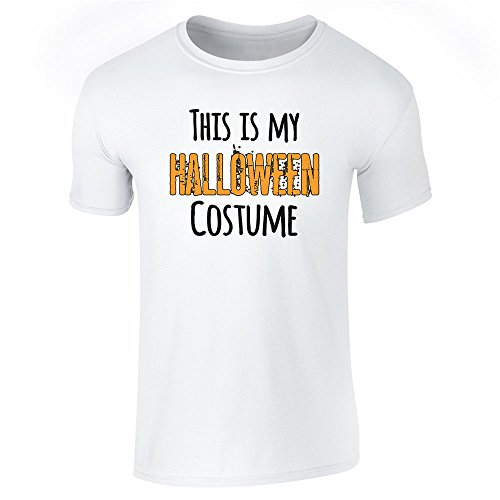 [This Is My Halloween Costume White M Short Sleeve T-Shirt by Pop Threads] (1980's Costume Party City)