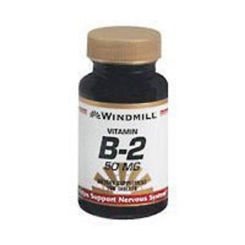 Windmill Vitamin B-2 50 mg Tablets - 100 ea (6 Pack) by Windmill