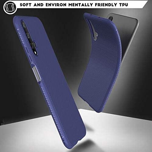 Anti-Graffio Toppix Cover per Huawei Nova 5T // Honor 20 Blu Antiurto Case per Huawei Nova 5T // Honor 20 Custodia Sottile e Flessibile in Silicone TPU