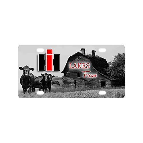 (Bernie Gresham License Plate Customization of International Harvester and Tractor at Barn Farm License Plate Cover Funny License Plate Cover High Gloss Aluminum Novelty Plate 12