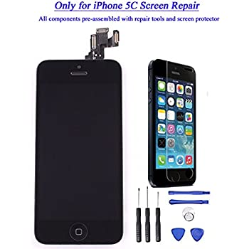iphone 5c screen went black lcd display touch screen digitizer assembly 5776