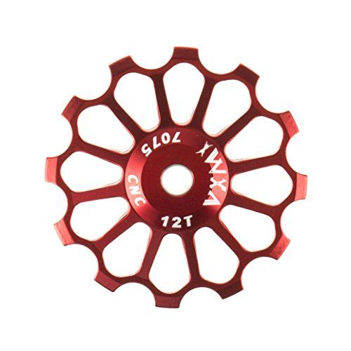railleur Jockey Wheel Pulley Road Bike (Red, 12T) (Stainless Derailleur Pulleys)