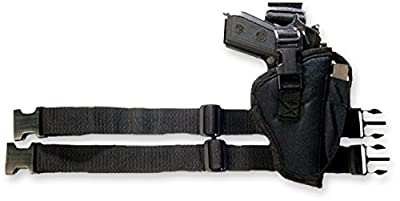 Bulldog Cases Right Hand Black Tactical Leg Holster (Fits Most Compact Auto's with 2 1/2-Inch - 3 3/4-Inch Barrels, Taurus Pt-111)