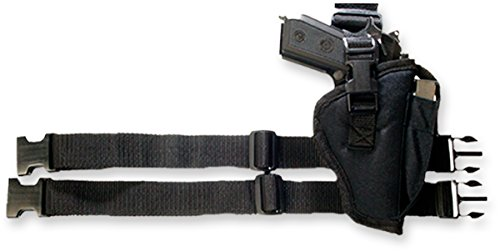 Bulldog Cases Right Hand Black Tactical Leg Holster Fits Most Large Frame  Auto's with 3 1/2-5-Inch Barrels Ruger P90