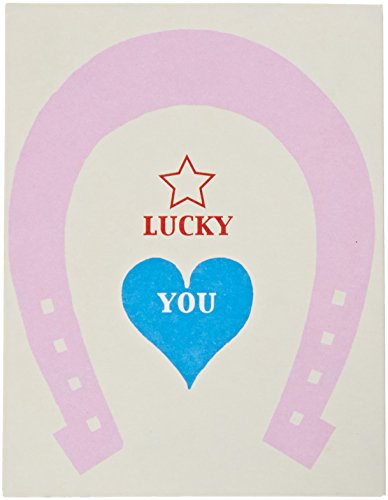 (Mara-Mi Lucky You Horseshoe Accordion Imprintable Invitation, 10-Count (90331) )