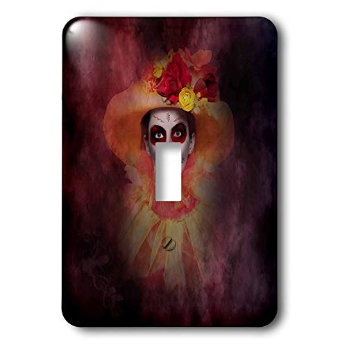 3dRose Lucia - Sugarskull Girl - Sugarskull girl - Light Switch Covers - single toggle switch (lsp_289787_1) ()