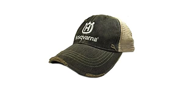 686b2ccdb Amazon.com: PPE Husqvarna Special Edition Black and Tan Trucker Hat ...