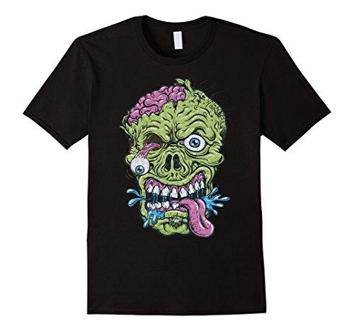 Mens Zombie T-Shirt Funny Halloween Gift Idea Shirt XL Black