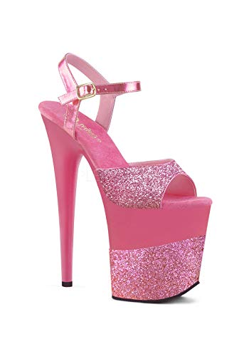 Donna Glitter pink Pleaser Sandali Pink Glitter 5n4AU