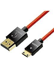 linkinperk Cable Mini HDMI 1.4a/ 2.0 (Tipo C) a HDMI (Tipo A) | Chapado en Oro (Alta Velocidad) Real 3D y Ethernet Capacidad | Apto para Full HD/HD Ready/3d | 1080 P | 2160 P