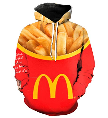 Catamaran Swag Hipster Men Fries Fast Food Hoodies Pullover Sweatshirt