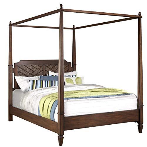 (Progressive Furniture Canopy Bed in Distressed Sable (88 in. L x 80 in. W x 82 in. H))