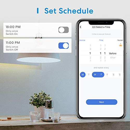 Wi-Fi Smart Plug Mini White,Flame Resistant Material, Timing Function, No Hub Needed, Works with Alexa and Google Assistant, FCC and ETL Complied, Occupies Only One Socket (2 pack)
