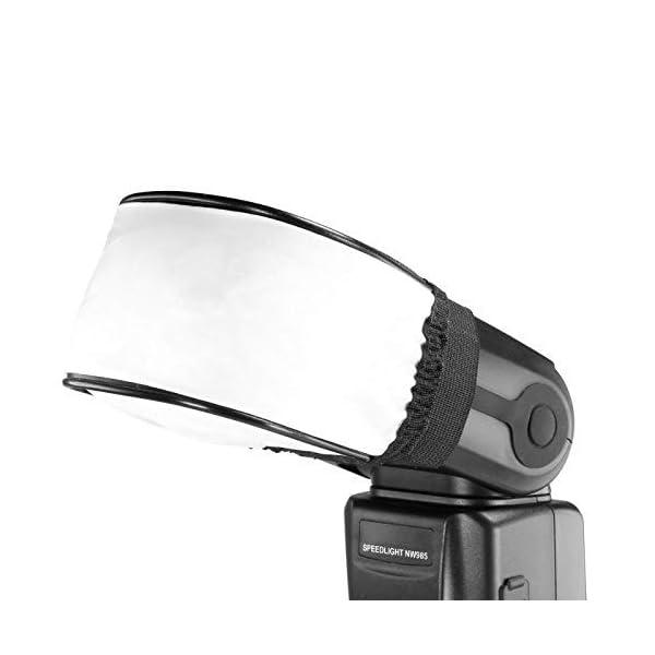 Lehrua Universal Flash Reflector Soft Mini Flash Bounce Diffuser Cap for On Camera or Off Camera Flash Reflector, for Canon, Nikon, Sunpak, Vivita Flash