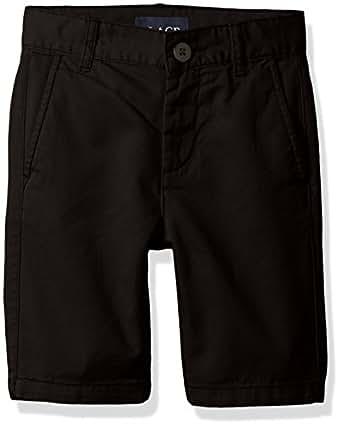 The Children's Place Boys' Uniform Chino Shorts, Black, 7 Husky